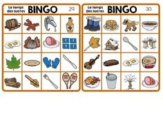 """""""Le temps des sucres"""" Themed Bingo Game in French Vocabulary Activities, Work Activities, Daycare Themes, Bingo Games, Grade 2, Homeschool, French, Fitness, Diy"""