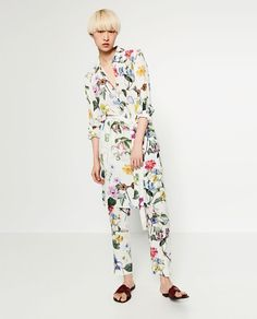 ZARA - WOMAN - FLORAL PRINT TROUSERS