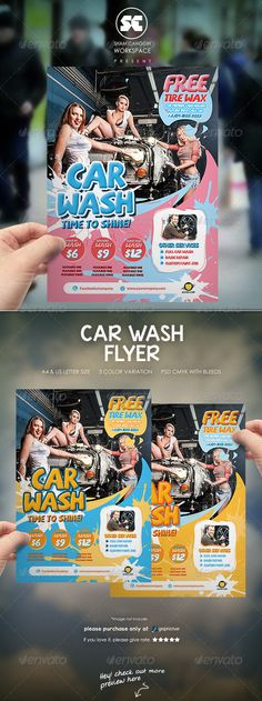 Irresistible Car Wash Flyer PSD Template • Only available here ➝ http://graphicriver.net/item/car-wash-flyer/8167516?ref=pxcr