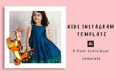 Instagram Fan Art Style Kids Special by Design Solutions on @creativemarket Fashion Art, Kids Fashion, Instagram Post Template, Social Media Template, Fonts, Designers, Fan Art, Graphics, Templates