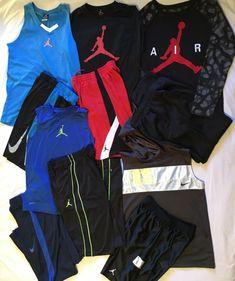 6acc7fd8807 Lot 11 Boy's XL AIR JORDAN NIKE ATHLETIC Dri-Fit Shirts Basketball Shorts  Pants #