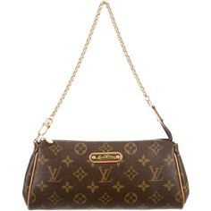 0995f33d7 Pre-owned Louis Vuitton Monogram Eva Clutch (£545) ❤ liked on Polyvore  featuring bags, handbags, clutches, brown, handbag purse, white handbags,  hand bags, ...