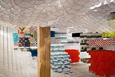 30,000 Paper Kites for Jacob Hashimoto's Gas Giant Kite Installation