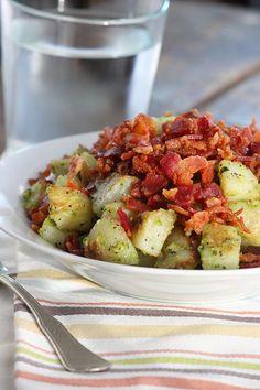Pesto Potatoes & Bacon  www.simplegreenmoms.com  #supersimple #weeknightmeal #familyfavorites