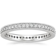 18K White Gold Pavé Milgrain Eternity Diamond Ring (3/8 ct. tw.) from Brilliant Earth