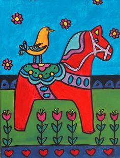 Dala Horses - Elementary Art Lesson Plan