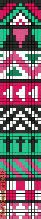 Alpha Friendship Bracelet Pattern #10821 - BraceletBook.com