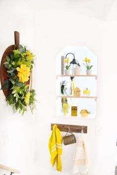 Do you have awkward openings in your kitchen? check out this small window diy shelves to add some place for storage or display that are easy to make and cheap. #diy #kitchen #homedecor Diy Kitchen Shelves, Diy Kitchen Decor, Diy Kitchen Cabinets, Kitchen On A Budget, Painting Kitchen Cabinets, Diy Home Decor, Kitchen Ideas, Kitchen Storage, Builder Grade Kitchen