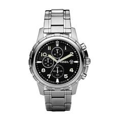 Fossil Men's Chronograph Dean Stainless Steel Bracelet Watch In Silver-tone Fossil Watches For Men, Cool Watches, Wrist Watches, Male Watches, Dream Watches, Luxury Watches, Stainless Steel Watch, Stainless Steel Bracelet, Mens Watches Online