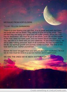Message From Hopi Elder