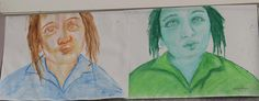 Yr 8 Expressive portraits - Chelsea
