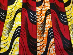 African Wax Print Fabric by the HALF YARD. Red by MoreLoveMama
