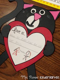 "Ask students to write what love is to them and your heart will melt as you read through their responses. Great follow up activity for ""Love, Splat"" by Rob Scotton"