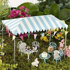 Having a party? Keep everyone cool in the shade with this stylish striped party tent. Note: This is for the party tent only.