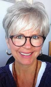 Image result for short hairstyles for women over 60 with glasses