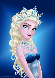Royal Jewels: ELSA!!! Now that's a crown! Better than that tiny tiara! XD LOL!!!