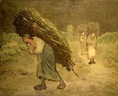 Winter- The Faggot Gatherers, 1868-75 - Jean-Francois Millet - www.jeanmillet.org