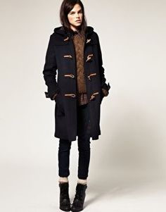 Fur Trim Hooded Duffle Coat | Burberry | 'Fluff' | Pinterest ...