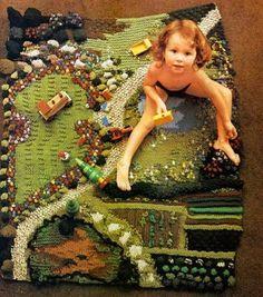 Jan Messent - tapis (livre Knitted gardens)