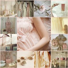 Pale pink, cream, touches of pale aqua...They always draw me in.  I don't think there's a prettier color combination anywhere.
