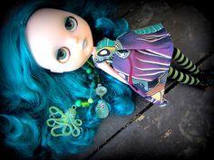 Sea Punk, via Flickr. Blythe Doll   Blue Hair