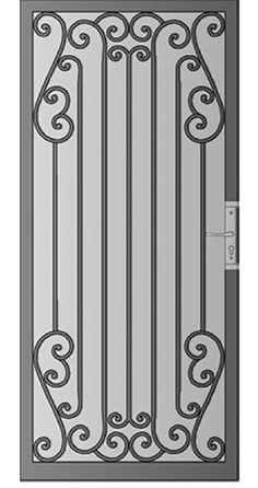 Security Screen Doors : Great Gates and Whiting Iron in Phoenix AZ Railing Design, Gate Design, Door Design, Steel Security Doors, Security Screen, Iron Doors, Iron Gates, Door Grill, Window Grill Design
