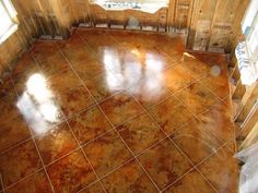 Acid Stain Stamped Concrete | acid stain kemiko cola acid stain kemiko malay tan acid Stained Concrete, Concrete Patio, Concrete Floors, Hardwood Floors, Flooring, Concrete Coatings, Acid Stain, Sidewalks, Polished Concrete