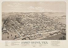 Honey Grove, Texas - John W. Magill's home in 1870