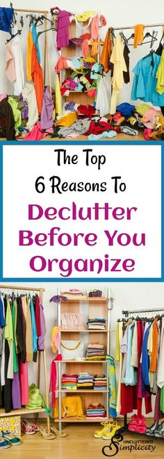 declutter before you organize | how to declutter your home | home organizing tips via @CherylLemily