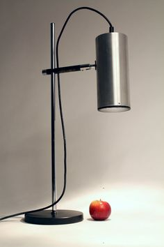 TALL ELEGANT FRENCH MINIMALIST TABLE LAMP FROM MARIA PERGAY 1968   Top quality material , attractive minimalist design , nicely aged patinated