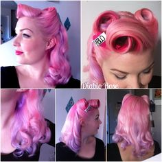 Vintage Hairstyles I can't wait till my bangs grow out so I can do this style once again. Vintage Hairstyles Tutorial, Retro Hairstyles, Wedding Hairstyles, Pin Up Hair, Big Hair, Pelo Pin Up, Rockabilly Hair, Rockabilly Style, Ear Hair Trimmer