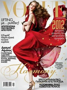 Rosanna Georgiou in ELIE SAAB Ready-to-Wear Fall 2011-12 for the January cover of Vogue Greece.
