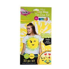 Lime & Yellow Emoji Tie-Dye Kit Includes enough supplies to make up to 3 emoji T-shirts. Just add water to dye bottles, shake and apply, then iron on your emoji face. Diy Tie Dye Socks, Diy Tie Dye Shirts, How To Tie Dye, How To Dye Fabric, Tulip Tie Dye, Tie Dye Tutorial, Emoji Design, Tie Dye Kit, Tie Dye Crafts