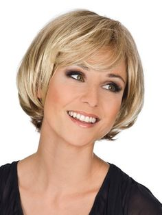 """* Material: Heat Friendly Synthetic Wig * Shown Colour: 27B * Cap Construction: Lace Front Mono Top * Hair Style: Wavy * Hair Length: 8"""" Wig code : wwj145 Order at : www.wigsfly.com"""