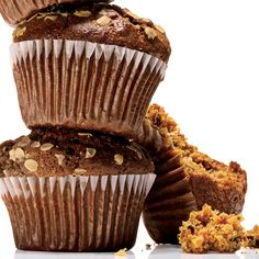 Low-fat muffins that are infused with yummy cinnamon and hearty oat-bran