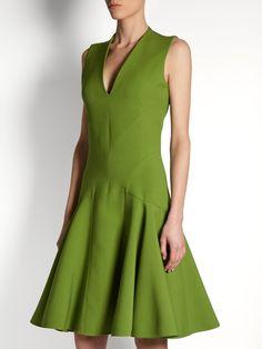 Alexander McQueen Contouring-seam V-neck dress