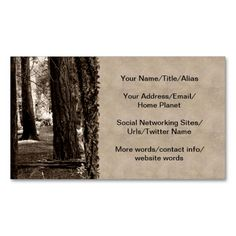 TREE PATH Double-Sided STANDARD BUSINESS CARDS (Pack OF 100). I love this design! It is available for customization or ready to buy as is. All you need is to add your business info to this template then place the order. It will ship within 24 hours. Just click the image to make your own!