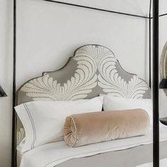 Pink Bolster Pillow, Transitional, bedroom, Benjamin Moore White Dove, Veranda
