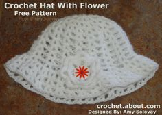 Crochet 20 Different Types of Hats with These Free and Easy Patterns: Easy V-Stitch Hat With Brim