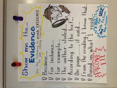 Show me the evidence anchor chart {image only}