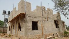 "The Making Of The ""Anambra 5 Bedroom Duplex"" - Properties - Nigeria Concrete Block Foundation, Duplex House Design, Living Room Windows, Iron Work, Village Houses, Concrete Blocks, Gate Design, Ground Floor, House Plans"
