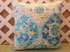 Ali Baba Pillow Cover in Carribean Blue Green by JRsPillowsandBags, $22.00