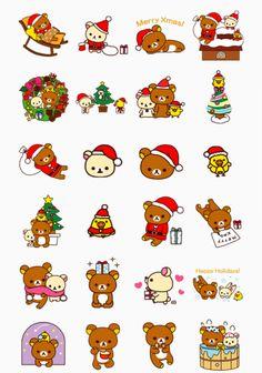 Rilakkuma Christmas clipart