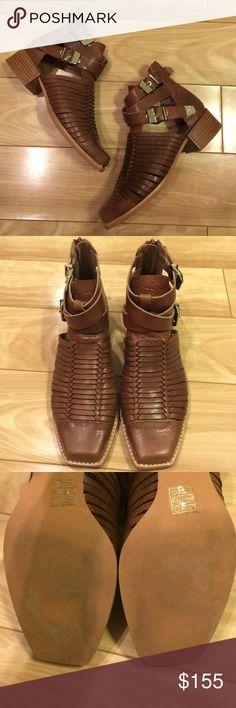 Jeffrey Campbell Hanson Bootie Jeffrey Campbell Hanson Bootie in Tan Pebble. Worn once inside. Jeffrey Campbell Shoes Ankle Boots & Booties