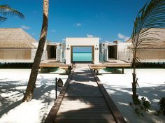 Editors' Choice: Our Favorite Beach Resorts in the World conde nast traveler, via @topupyourtrip In Pic: Cheval Blanc Randheli, Maldives