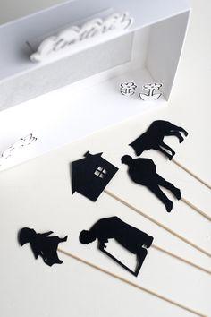 UKKONOOA: Itse tehty varjoteatteri / DIY Shadow Puppet Theatre Paper Doll Craft, Doll Crafts, Paper Dolls, Paper Crafts, Pop Up Karten, Shadow Theatre, Cute Kids Crafts, Art Curriculum, Shadow Art