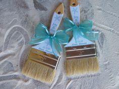 Aqua Beach Wedding Sand Brush for Flip Flops on etsy. $9.99, via Etsy.