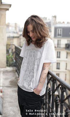 #ONSALE // #LalaBerlin #Iggy #T-shirt #white #geometric @ Matières à réflexion