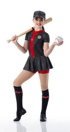 BATTER UP Unitard w/Socks Dancewear BASEBALL Dance Costume Child & Adult Sizes #Cicci