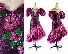 1980s Dress // 1980s Prom Dress // 80s Prom Gown by SwellFarewell